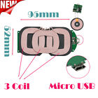 3 Coils Qi Wireless Charger PCBA Circuit Board Coil Charger Micro USB Universal