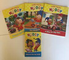 4 Make Way For Noddy Books Bounce Alert/Magic Powder/Bike for Big Ears/Hold Hat