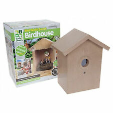 Clear Window Bird Feeder House See Through Nest Box Secret Viewing Perspex Glass