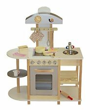 Liberty House Toys - Cucina giocattolo in legno, con accessori, (d7l)