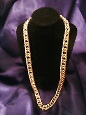 "28"" Men's Gold Plated Al Gangsta Hip Hop Chain Stoneless Necklace Birthday Gift"
