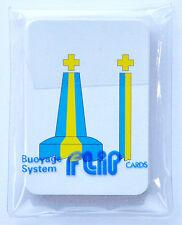 Marine Flip Cards - Buoyage (IALA A), great for RYA training