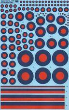 XTRADECAL 1/72 RAF POST WAR ROSSO/BLU TATTICO COCCARDE #72165