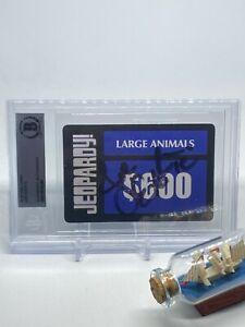 Joe Exotic signed Jeopardy Card Beckett BAS Slabbed Auto Rare Tiger King C674