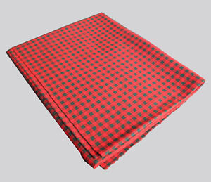 """Red and Black Mini Check Stretch Fabric 52"""" by 52"""" Useable Size Acrylic?"""