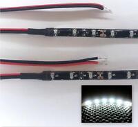 WHITE LED FOOTWELL/INTERIOR STRIP LIGHTING 2x20CM STRIPS