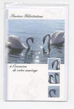 NEUF CARTE FELICITATIONS MARIAGE + ENVELOPPE !! 10 CARTES ACHETEES= PORT GRATUIT