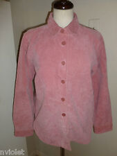 CHADWICK'S 100% LEATHER LIGHT PINK JACKET COAT BLAZER SZ MEDIUM