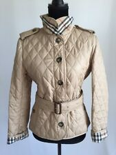 NWT Burberry Quilted Nova Check Beige Tan  Dunmore Jacket Size MED Ret $895