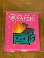 Dumpster Fire 100% Soft Peel 'n' Stick Patch from Launch Party ~ NEW Ships Fast