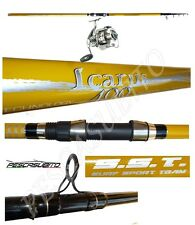 kit canna da pesca beach ledgering 4m lancio + mulinello dom surfcasting mare