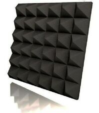 Studio Acoustic Sound Absorption Foam Pyramid Sound Proof Foam in Black 8 PCS