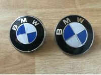 BONNET AND BOOT BADGE BLUE  82mm+74mm fit for BMW E46 E90 MANY OTHERS CH-0063