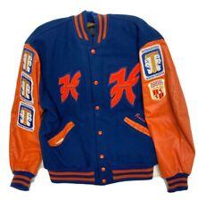 Vintage DeLong Hoffman High School Letterman Jacket Size XL Thespian Patches