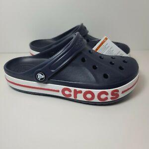Crocs Bayaband Clog 205089-4CC Size Men's 6 Women's 8 Blue Red White