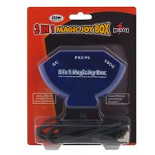 3In 1 Magic Joy Caja Playstation 1 2 Gc Xbox a Pc USB Adaptador Convertidor C7