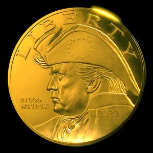 Patriot Trump Eagle 24K Gilded Gold Coin Collectable