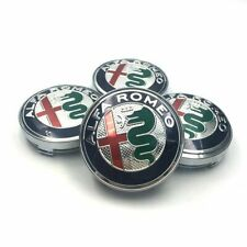 4x60mm 2020 Alfa Romeo Wheel Center Caps Badges Hubcaps Decals For 147 156 166