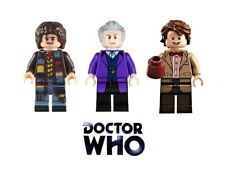 DOCTOR WHO BUILDING BRICK MINIFIGURES - DR BAKER CAPALDI SMITH WHITTAKER