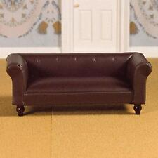 Dolls House 12th Scale Brown Leather Sofa (3957)