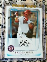 BRYCE HARPER 2011 Bowman CHROME #1 Draft Pick Rookie Card RC Phillies $$ HOT $$