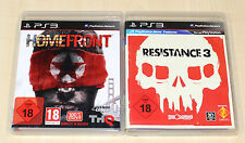2 PLAYSTATION 3 SPIELE SET - HOMEFRONT & RESISTANCE 3 - PS3 UNCUT SHOOTER