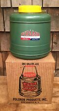 Vintage NOS Large 1 Gal Porcelain PYRAMID Insulated Jug W Orginal Box Thermos