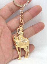 HORSE & WESTERN JEWELLERY JEWELRY SPARKLING SIDE SADDLE RIDER KEY CHAIN GOLD