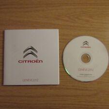 CITROEN DS3 DS4 DS5 C1 C3 C4 C5 C6 Tubik Berlingo GENEVE GENEVA Press CD 2012