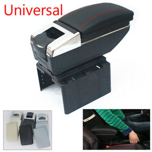Universal SUV Car Central Container Armrest Box PU Leather Center Storage Case