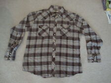 Vintage Youngbloods Pearl Snap Western Fit Plaid Rockabilly button down Shirt L