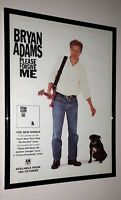 Bryan Adams - framed original press release promo poster