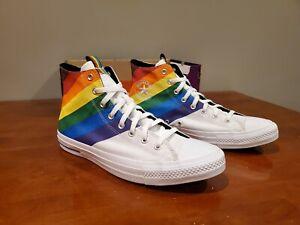 Converse CTAS Hi Pride Canvas 167758C White/Rainbow Size Men's 13 / Women's 15