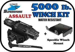 Yamaha Kodiak Grizzly 350//400//450 Bruin NEW Set Moose Winch Mount Bracket