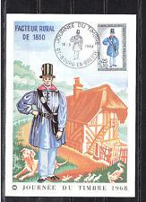 carte   1er jour  journée du timbre   Bourg en Bresse     1968