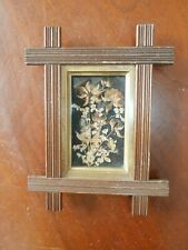 New ListingAntique Eastlake East Lake Wooden Picture Frame w/ Dried Pressed Flowers