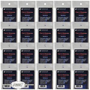 2000 - Guardhouse Soft Trading Penny Card Sleeves for Baseball Pokemon Football