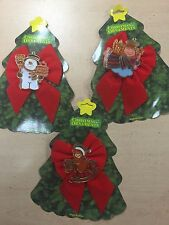 Pack de 3 CHRISTMAS XMAS TREE Noeuds décorations Mignon Noël Design