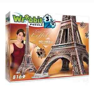 WREBBIT 3D JIGSAW PUZZLE THE CLASSICS COLLECTION LA TOUR EIFFEL 816 PC #W3D-2009