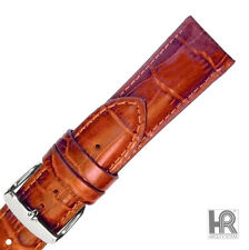 Hadley Roma MS898 20mm Tan Alligator Grain Genuine Leather Mens Watch Strap Band