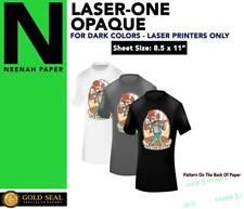 Laser 1 Opaque Dark Shirt Heat Press Machine Transfer Paper 85 X 11 5 Sheets