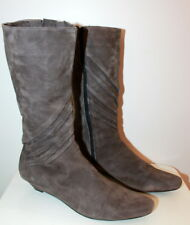 Elena Miro grey suede wedge boots women Eur 39 US-Aus 8 UK 6 Used from Italy