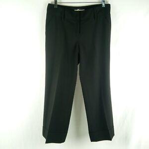 Michael Kors Trousers Women Size 4 Black Dress Pants Cuffed Career