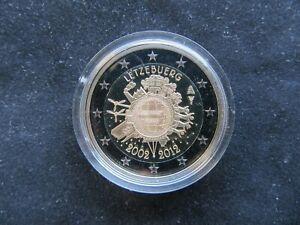 2 Euro Commémorative BE Luxembourg 2012 ; 10 Ans de L'Euro