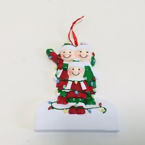 6 x Christmas Lights Family of 3 Tree Decoration For Personalisation Wholesale
