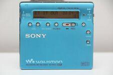 Sony MZ R900 MDLP  MiniDisc Walkman Player Recorder Blue Good Condition