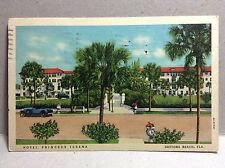 Hotel Princess Issena Daytona Beach Volusia FL Vtg Postcard Posted 1938 Color