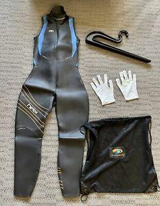 Blue Seventy Women's Sleeveless Helix Wetsuit & Accessories Bundle - Hanger, Bag