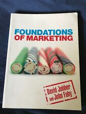 FOUNDATION OF MARKETING BOOK Jobber/Fahy 9780077121907 EVENTS MANAGEMENT Uni Crs