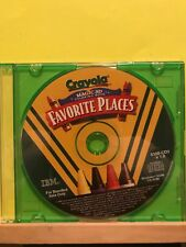 Used ~ Crayola Magic 3D Coloring Book Favorite Places Software Disc CD-ROM, 2010